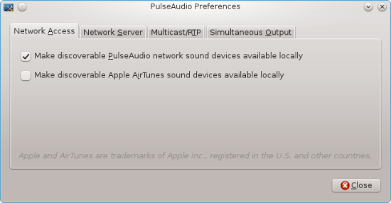 Use paprefs to make remote sound devices available locally.